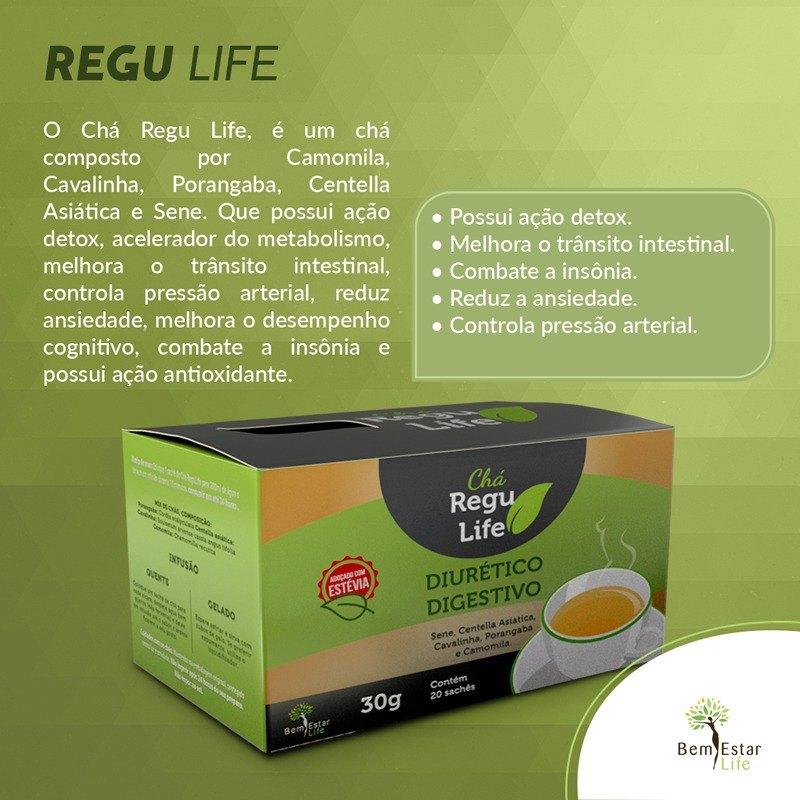 Chá Regu Life 20 Sachês (30 gramas)